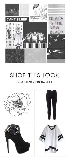 """""""love to lay"""" by luhansolo ❤ liked on Polyvore featuring Victoria Beckham, Free People, Iron Fist, Summer, black, blackandwhite, kpop and EXO"""