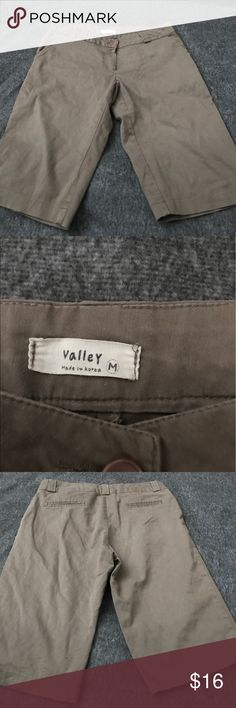 Cute capris mystery lot Valley brand capris/long shorts. This is size medium in good preowned condition. Final sale no returns sold as is. Bundle includes this item & 1 random mystery item. Pants Capris