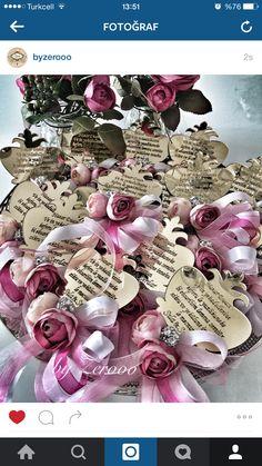 Nikah şekeri olan nazar dualı magnetler #nikahşekeri#magnet#gold#çiçek##mevlüt#mevlid