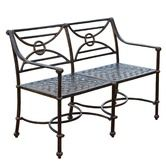 Found it at Wayfair - Geometric Aluminum Garden Bench