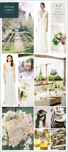Tuscan Garden Wedding Inspiration