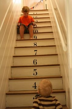 Numbers/Painted Stairs