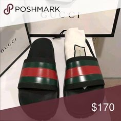 3d49685dcd00e5 ⚫️Gucci GG Slides⚫ ⚫ ⚫ 100%AUTHENTIC No Fakes Sold Here❌ 100% Authentic  RECEIPTS INCLUDED✳ Brand New Deadstock Box Tags Receipts Included 100% ...