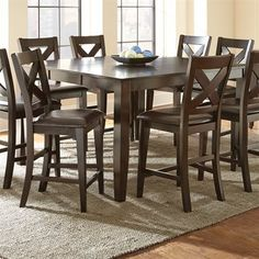Steve Silver Company CP700PT Crosspointe Counter Height Dining Table