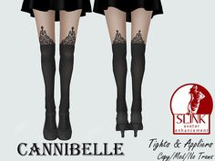 ~Cannibelle~ Gothic Lace Suspender Tights with SLink Appliers | Flickr - Photo Sharing!