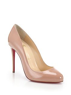 Christian Louboutin Dorissima Patent Leather Pumps.. In BLACK, 38.5 :) My first pair of Louboutins!