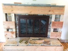 Our Diy Fireplace Makeover {framing Vents Part 2
