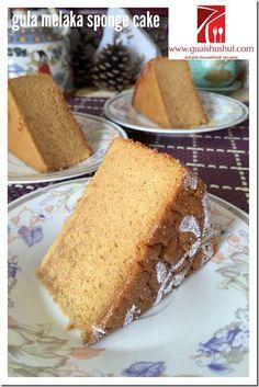Gula Melaka Santan Sponge Cake (椰糖椰浆海绵蛋糕)    #guaishushu #kenneth_goh    #sponge_cake