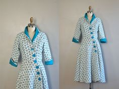 vintage 1950s Atomic Print housedress