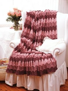 Pink Blanket | Yarn | Free Knitting Patterns | Crochet Patterns | Yarnspirations