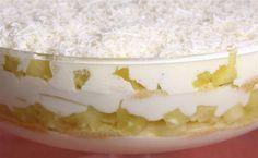 GELADO DE ABACAXI Ingredientes 1 abacaxi em cubos 5 copos de água 3 xícaras de chá de açúcar 2 pacotes de gelatina sabor abacaxi 1 caixinha de creme de leite Modo de preparo Leve ao fogo o abacaxi, a água e o açúcar e ferva por 20 minutos. Apague o fogo e misture a gelatina, deixe esfriar e misture o creme de leite. Leve á geladeira até firmar.