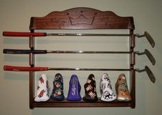 Golf Club Putter Display Rack