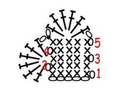 Simple crochet heart pattern