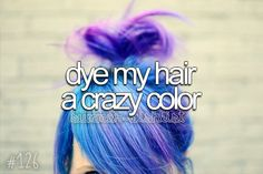 *that i like* I dyed my hair a bright red color before but, It faded really badly and made a weird like a kool-aid powder red color and eww...