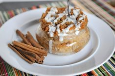 Cinnamon Streusel Coffee Cake for One (in a Jar)