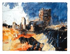 David Tress Pembrokeshire landscape artist. Landscape Art, Landscape Paintings, Art Alevel, Call Art, Sense Of Place, Great Paintings, Teaching Art, Monet, Collage Art