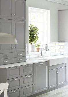 61 awesome gray kitchen cabinet design ideas