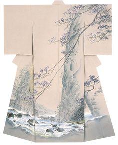 The Kimono Gallery Traditional Japanese Kimono, Japanese Geisha, Japanese Beauty, Traditional Dresses, Japanese Art, Japanese Textiles, Japanese Patterns, Japanese Fabric, Japanese Outfits