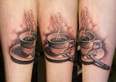 coffee cup tattoo | Click to see fullsize / without the cigarettes