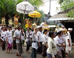 Part of a local funeral ceremony, Lovina, Bali