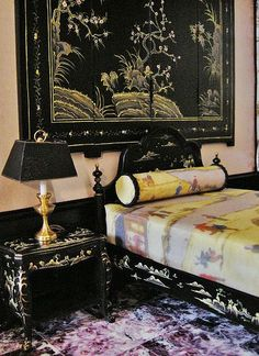 Best of Chinoiserie Chic. The Splendid Chinoiserie Bedroom with precious coordinated pieces. Follow rickysturn/home-styling