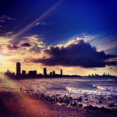 See 703 photos from 2188 visitors about surfers paradise, sunsets, and beach. Gets pretty crowded on nice days tho. Gold Coast, Four Square, Surfing, Paradise, Clouds, Australia, Memories, Celestial, Sunset