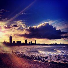 Burleigh Heads Beach in Burleigh Heads, QLD