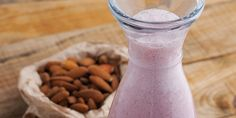 Almond milk and almond butter give this Strawberry Shakeology #smoothie recipe a delicious, nutty taste.