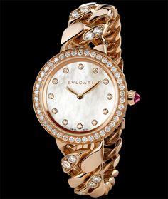Bulgari Catene, White Mother of pearl dial, 31mm, 18 karat rose gold twirl 6e782440af9