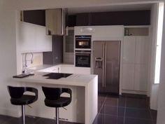 Photo of red red tiled splashback kitchen with white for Kitchen ideas edinburgh