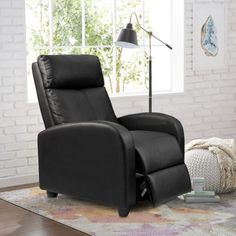 living room recliner - Homall Single Recliner Chair Padded Seat Black PU Leather Living Room Sofa Recliner Modern Recliner Seat Home Theater Seating (Black) Dining Room Decorating Be sure to check out this helpful article. Single Couch, Tabletop, Long Chair, Theater Recliners, Modern Recliner, Sofa Seats, Recliner Chairs, Chaise Sofa, Sofa Bed