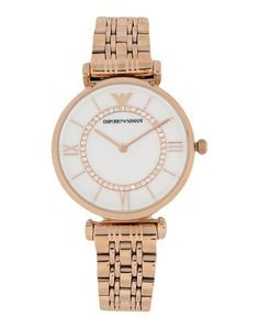 Emporio Armani Women Wrist Watch on YOOX. The best online selection of Wrist Watches Emporio Armani. YOOX exclusive items of Italian and international designers - Secure payments Armani Watches, Pink Fashion, Emporio Armani, Gold Watch, Bag Accessories, Bracelet Watch, Fragrance, Pink Style, Wrist Watches