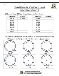 14 best 24 hour clock system images on pinterest learning