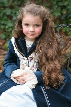REMBRANDT 100% DUTCH JOTTUM Girls Velvet Dress Coat 6/7/8 116 Portrait   eBay