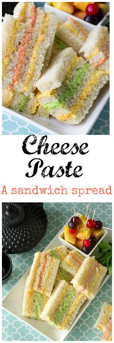 Cheese Paste Spread - A Caribbean cheese spread filled with flavors of cheese, mustard, mayonnaise, and pepper sauce(Grated Cheese Sandwich) Trinidadian Recipes, Guyanese Recipes, Appetizer Recipes, Snack Recipes, Cooking Recipes, Dessert Recipes, Desserts, Delicious Appetizers, Vegan Recipes