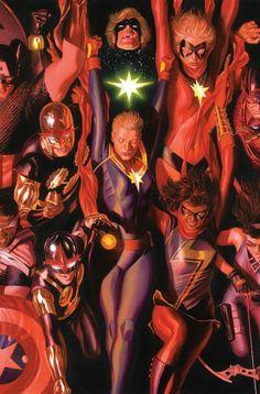 Nova • Nova • Captain Marvel • Captain Marvel • Ms Marvel • Ms Marvel