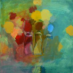 Värisuora, akryylimaalaus sarjasta Maalarintyöpäivä, 2012