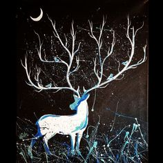 Moonlight, Moose Art, Owl, Paintings, Artist, Animals, Animales, Paint, Animaux