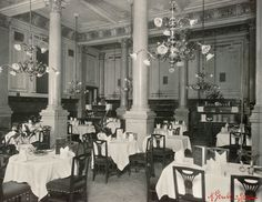 Restaurant at the Hotel Krantz, now Ambassador. Ambassador Hotel, Contemporary History, Austro Hungarian, At The Hotel, Vienna, Old World, Celtic, Past, Medieval