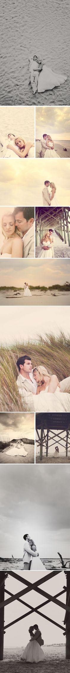Beach wedding photos... not getting married at a beach, but I love these!