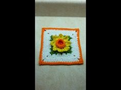 "Learn How To #Crochet 3D  Spring Time Daffodil flower 6"" Granny Square  TUTORIAL #373 - YouTube"