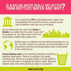Is Alkaline Water Really Any Better than Bottled Water and Why? | For more info about Alkaline Water: http://www.alkalux.com/knowledge-base/about-alkaline-water.html