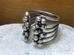 Ariel silver ring tribal ring gypsy boho ring  by Eredjebo on Etsy
