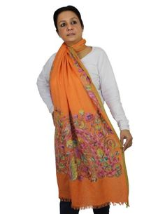 ShalinIndia Women's Scarf Wool Accessories Embroidered Indian Clothes (Orange) ShalinIndia http://www.amazon.in/dp/B00LGK3CI0/ref=cm_sw_r_pi_dp_VHEQvb1XQ739T