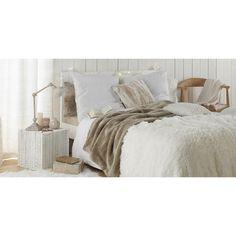 Bout de canapé en bois blanchi L 35 cm PATRAS