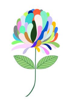 Claire Ishino Print - A Colourful Life - Have You Met Charlie? Flower Prints, Flower Art, Illustration Blume, Arte Floral, Gouache Painting, Floral Illustrations, Botanical Art, Flat Design, Graphic