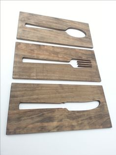 Kitchen Art Fork Spoon Knife Wooden Plaques Wall by TimberArtSigns, $29.99