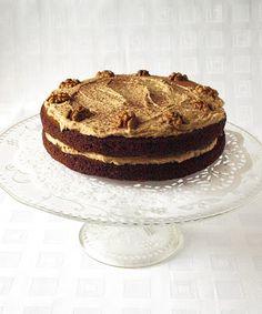 CHEZ LUCIE: Staromódní ořechový dort s mocca polevou - narozen...