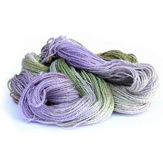 Double knitting yarn hand dyed DK baby alpaca linen by SixSkeins (Craft Supplies & Tools, Fiber & Textile Art Supplies, Yarn & Roving, Yarn, DK, hand dyed wool yarn, handdyed merino wool, double knitting wool, teamcb, crochet yarn, cornart, cornwall england, Perran Yarns, sweet pea, baby alpaca yarn, purple DK, green light worsted, linen silk yarn)