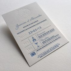 Print : Badcass - Design : Mister M - Faire-part de mariage en letterpress - #débossagepur
